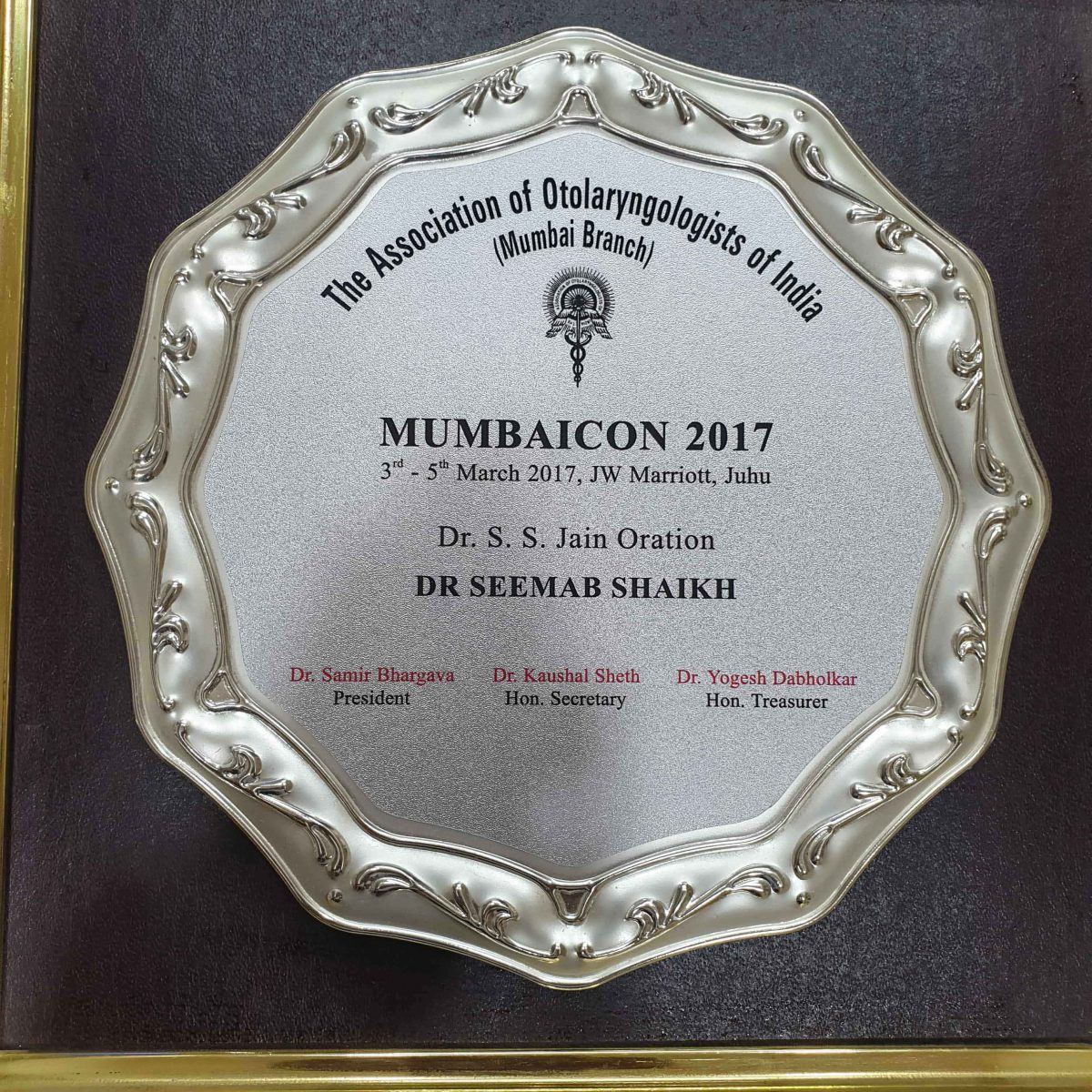 MUMBAICON 2017 | Dr. Seemab Shaikh | ENT surgeon in Pune